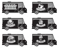 Food Truck Icon Designs — Stock Vector © Alexkava #110533174