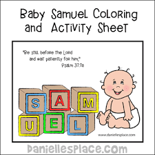 Baby Samuel Coloring And Activity Sheet From Daniellesplace