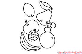 Healthy Food Coloring Pages For Kid