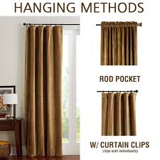 Sound Reducing Curtains Amazon by Amazon Com Room Darkening Velvet Curtains Gold Brown Drapes For