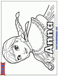 Online Disney Coloring Pages Of Frozen Princess Anna 21701