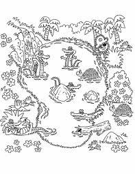 Jungle Adventure Coloring Page Dora