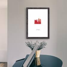 heiliger georg wandbild für wohnzimmer rot modernes heiligenbild mit echter dokumententinte als geschenkidee