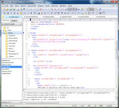A Text Editor HTML PHP Java And Hex Viewer