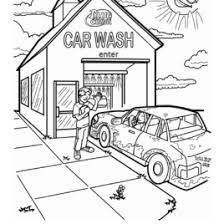 Coloring Page Car Wash Archives