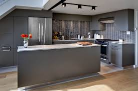 kitchen modern grey open kitchen design color with built in