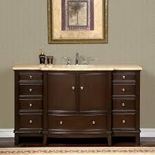 Single Sink Bathroom Vanity by 60 Inch Travertine Stone Counter Top Bathroom Single Sink Vanity
