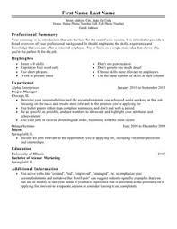 Resume Template Classic 1 Thumbnail Professional Job Hopper