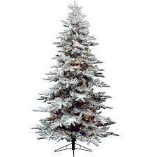 Balsam Christmas Trees Uk by Kaemingk Everlands Snowy Alaskan Pre Lit Christmas Tree U2013 7ft