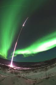 The rocket the laser and the northern lights Bad Astronomy