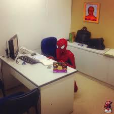 Spiderman Desk Meme Gen by Spider Man Sitting At Desk Desk Design Ideas