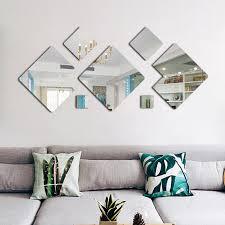 3d acryl spiegel wirkung wand aufkleber wohnzimmer dekoration diy wand aufkleber home decor tv hintergrund wand aufkleber