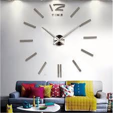 2018 New Home Decor Big Wall Clock Modern Design Living Room Quartz Metal Decorative Designer Clocks Watch Free Shipping In From