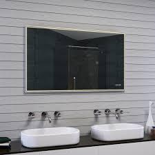 spiegel 5mm kupferfrei silber beschlagfrei bad wand led
