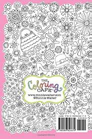 Amazon Coloring Cafe Cuppa Cute Journal A Fashion Inspired 9780989826679 Ronnie Walter Books