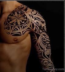 Tribal Tattoo On Full Sleeve