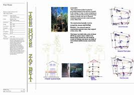 104 Tree House Floor Plan Presentation Panel With Project Description S Front Elevation Section And Exterior And Interior Views Archnet