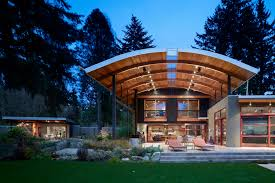Modern Industrial Suburban House In Seattle With Curved Roof ... Andrew Simpson Architects And Its Modern Industrial Home Design Office Lighting Decor Best 25 Design Homes Ideas On Pinterest Ideas Webbkyrkancom 10 Ways To Transform Your Interiors With Style Details Loft House Plans Youtube The Interior Office In This Home Is Pticularly Modern Glass Our Top 5 Tips 21 Designs Decoration Interior Of An In