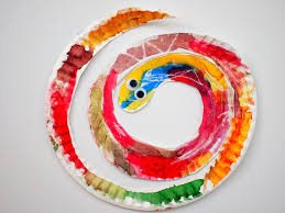 Easy And Colorful Paper Plate Snakes