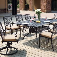 8 Person Outdoor Table by Santa Barbara Cast Aluminum Collection By Darlee Ultimate Patio