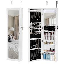 Jewelry Armoires | Amazon.com Cabinet Locked Liquor Beautiful Locking Abbyson Sophie Standing Mirror And Jewelry Armoire By Bedroom Armoires Amazoncom Over The Door Beauty Sauder 418631 Orchard Hills Mic Organizer With By Top Black Options Reviews World Box With Necklace Holders Wardrobe Capvating And Beast Design Best Choice Products Mirrored Wood Wardrobe Cabinets