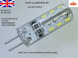 g4 24 led 2 pin capsule cold white replace halogen bulbs dc 12v