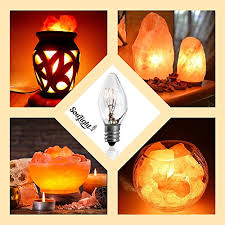 12 15w dimmable light bulbs for salt basket chandelier candle wax