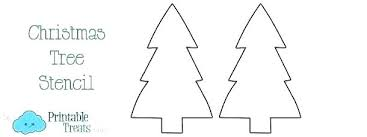 Christmas Tree Cutouts Stencil Template Printable Small Lifesize Cardboard Cutout