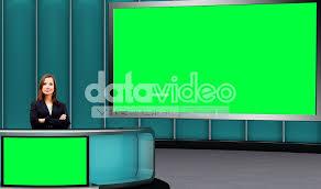 News 022 TV Studio Set Virtual Green Screen Background PSD