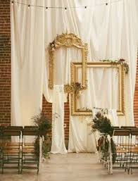 Ornate Hanging Frames For Wedding Ceremony Backdrop