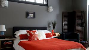 Bedroom Simple Red And Grey Color Combination Ideas