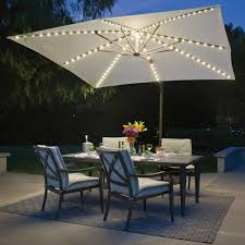 Bali Pro 10 Square Rotating Cantilever Umbrella with Lights