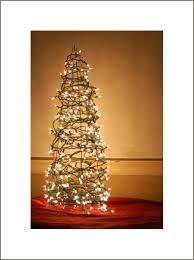 Alt Christmas Tree Of Tomato Cage And Lights