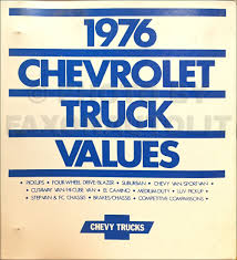 100 Medium Duty Truck Values 1976 Chevrolet Sales Training Album Original