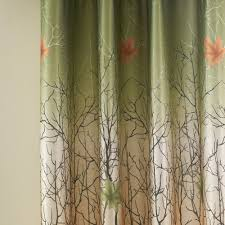 Lined Curtains For Bedroom by Amazon Com Curtains Drapes 2 Panel All Sizes Koting Green Maple