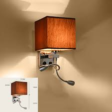 modern wall sconce with switch wall bed ls 1 or 2 pcs 1w led