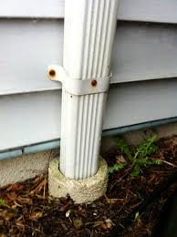 extending downspouts underground beware the pipe to nowhere