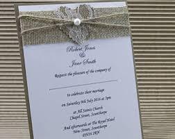 Sample Rustic Wedding Invitations Handmade Lace Heart Burlap Hessian Kraft Card With Envelope