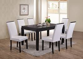 Astaire 7 Piece Kitchen Dining Set, Cappuccino Wood, 59