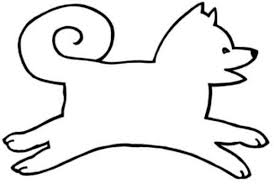 Simple Dog Sled Coloring Pages