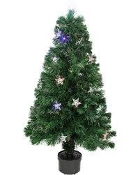 Northlight 4 Ft LED Color Changing Fiber Optic Pre Lit Medium Christmas