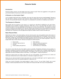 Good Resumes Examples For Jobs