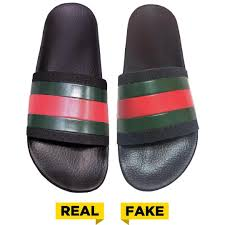 Fake Vs Real Gucci Beach Slippers