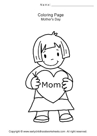 Mothers Day Themed Coloring Pages