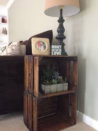 End Tables Designs Classic And Traditional Looked In Brown Natural Woden Theme With Square Shape Crate