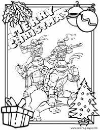 Ninja Turtles Border Christmas Coloring Pages