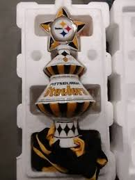 Image Is Loading Danbury Mint Pittsburgh Steelers Christmas Tree Topper