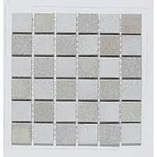 2 inch lyric unglazed porcelain mosaic tile in cliff gray