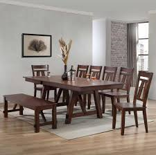 Bernards Winslow 8-Piece Refectory Table Set With Bench | Westrich ...