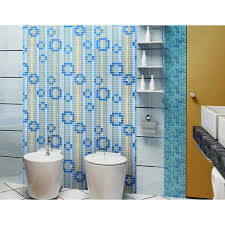 Blue Mosaic Bathroom Mirror by Mosaic Tile Mural Waterfalls Flow Patterns Kitchen Backsplash